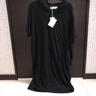 スライ(SLY)の新品タグ付 SLY  フード付Tシャツ ロング丈(Tシャツ(半袖/袖なし))