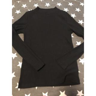 ローリーズファーム(LOWRYS FARM)のLOWRYSFARM ブラック 黒 ロンT リブ(Tシャツ(長袖/七分))