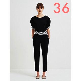 バーニーズニューヨーク(BARNEYS NEW YORK)の新品未使用❤︎ ボーダーズアットバルコニー カットソー ブラック 36(Tシャツ(半袖/袖なし))