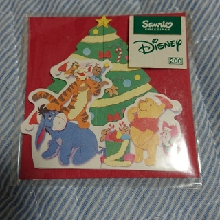 クマノプーサン(くまのプーさん)のプーさん  クリスマスカードセット(カード/レター/ラッピング)