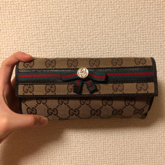 Gucci - GUCCI オールド シェリーライン 長財布の通販 by shop|グッチならラクマ