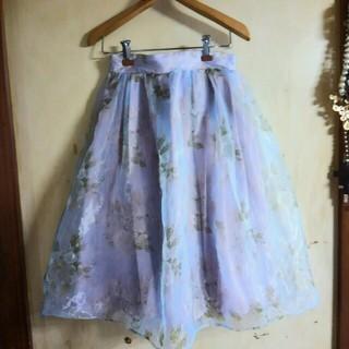 ダズリン(dazzlin)のダズリン オーガンジー スカート(ひざ丈スカート)