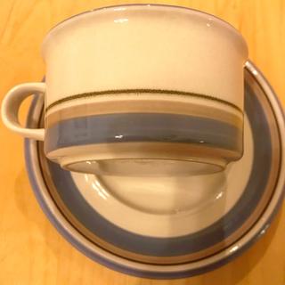 アラビア(ARABIA)の新入荷!北欧ヴィンテージ アラビアuhtua  カップ&ソーサー フィンランド製(グラス/カップ)