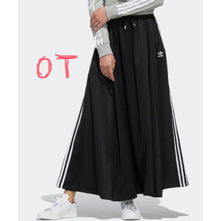 アディダス(adidas)のアディダスオリジナルス  サテンスカート OT ブラック 完売 タグ付き新品(ロングスカート)