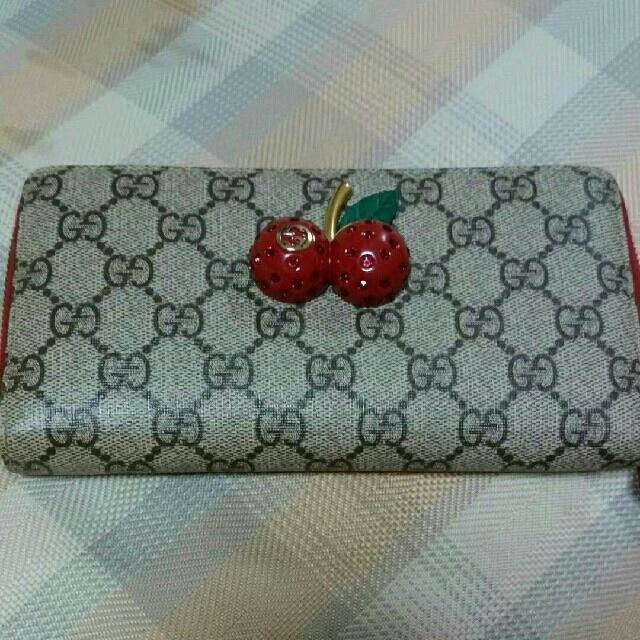 エゴイスト バッグ 激安代引き - Gucci - グッチ 長財布 チェリーの通販 by トシコ|グッチならラクマ