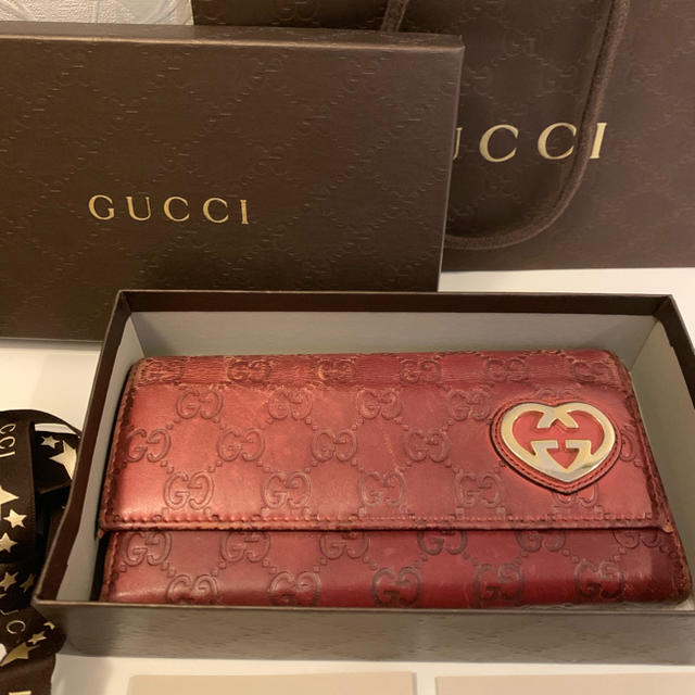 バッグ 激安 通販 送料無料 tシャツ | Gucci - グッチ GUCCI 長財布 レッドの通販 by n♡shop|グッチならラクマ
