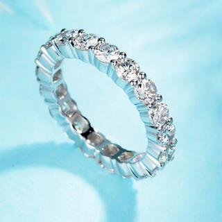 newデザイン  k18 モアサナイト リング  高品質(リング(指輪))