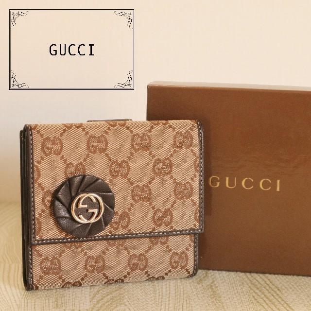 Gucci - 美品 GUCCI GG キャンバス インターロッキング 正規品 二つ折り 財布の通販 by antique's shop|グッチならラクマ
