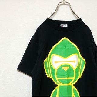 アベイシングエイプ(A BATHING APE)のBaby Milo ベイビー マイロ Tシャツ OLD ネオンカラー ブラック(Tシャツ/カットソー(半袖/袖なし))