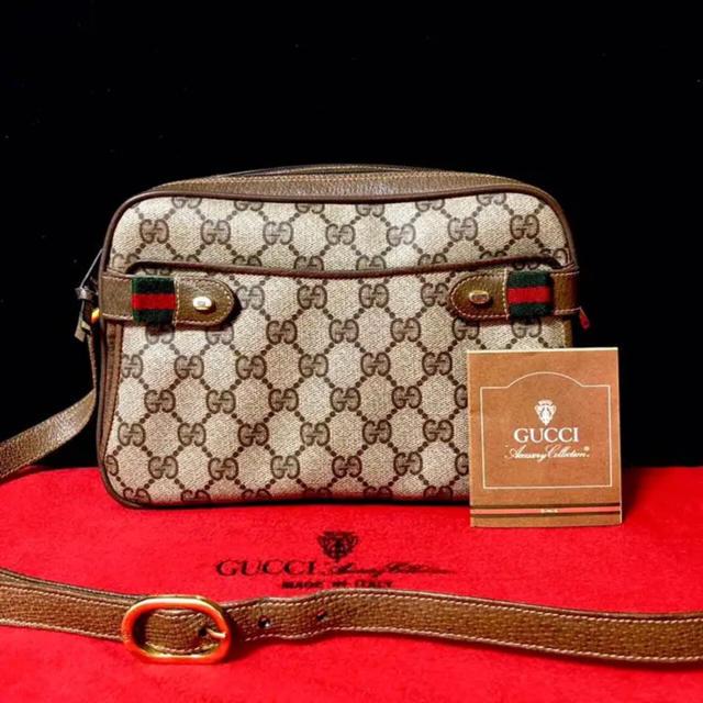 Gucci - 美品 レア グッチ オールドグッチ シェリーライン ショルダーバッグ ポシェットの通販 by マチルダ's shop|グッチならラクマ