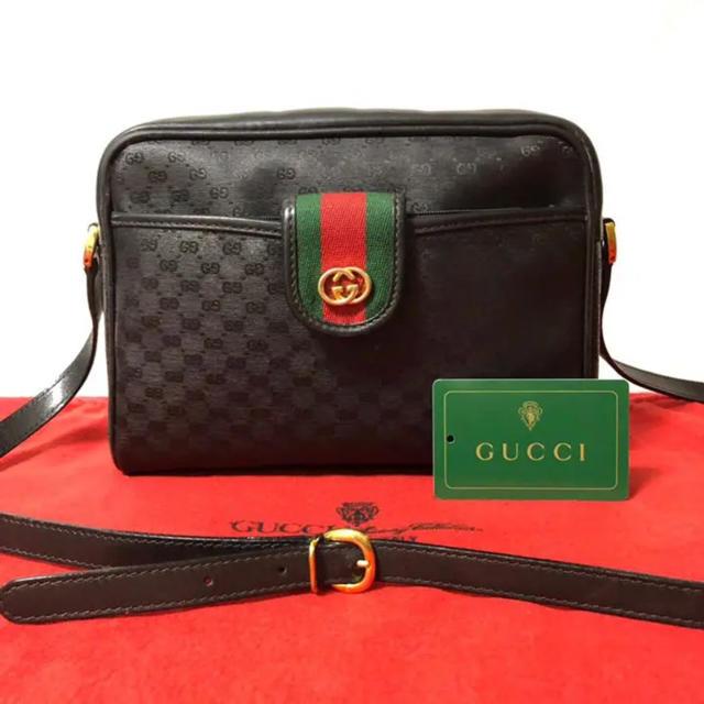 Gucci - 超レア 美品 グッチ オールドグッチ シェリーライン 2way ショルダーバッグの通販 by マチルダ's shop|グッチならラクマ