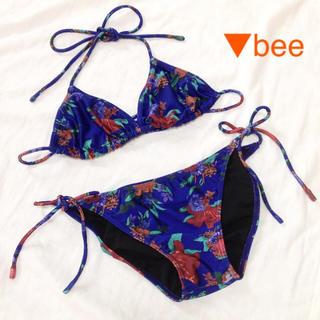 ムルーア(MURUA)のムルーア ビキニ 水着 花柄 ブルー リゾート プール(水着)