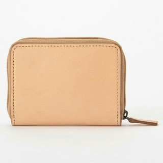 ムジルシリョウヒン(MUJI (無印良品))の新品 無印良品イタリア産ヌメ革ラウンドファスナー 小銭カードケース(財布)