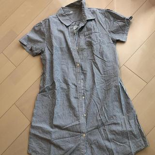 ムジルシリョウヒン(MUJI (無印良品))のシャツワンピース 授乳服 無印 S - M(ひざ丈ワンピース)