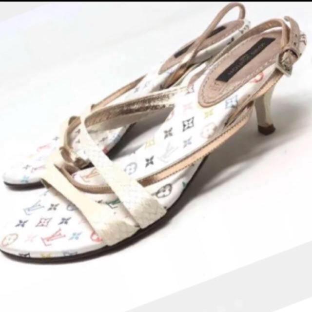 LOUIS VUITTON(ルイヴィトン)のルイヴィトン マルチカラー サンダル 美品 ミュール レディースの靴/シューズ(ミュール)の商品写真