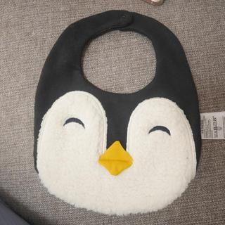ベビーギャップ(babyGAP)の新品未使用 gap ペンギン スタイ よだれかけ(ベビースタイ/よだれかけ)