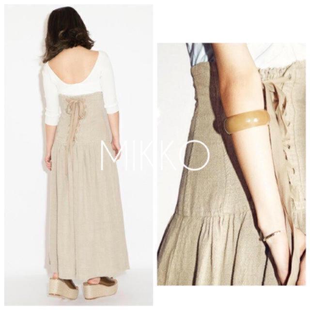 FRAY I.D(フレイアイディー)の美品 フレイアイディー コルセットリネンスカート レースアップ レディースのスカート(ロングスカート)の商品写真