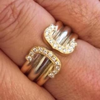 カルティエ(Cartier)のカルティエダイヤワイドリング、18金、k18、定価約70万(リング(指輪))