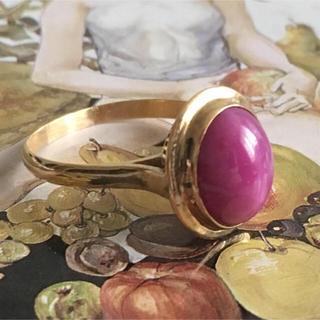 K18★スタールビー昭和レトロリング(リング(指輪))