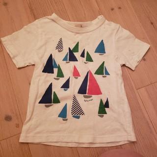 プティマイン(petit main)のプティマイン ヨット 舟 Tシャツ 100cm 染みあり(Tシャツ/カットソー)