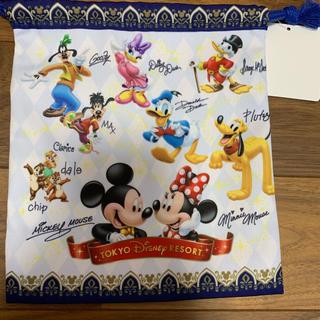 ディズニー(Disney)のディズニー サイン入り巾着 未使用(キャラクターグッズ)