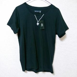 プエルタデルソル(PUERTA DEL SOL)のタグ付き*PUERTA DEL SOL*ネックレス*プリントTシャツ(Tシャツ/カットソー(半袖/袖なし))