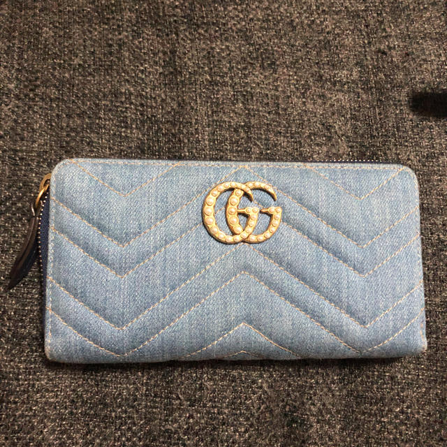Gucci - GUCCI GGマーモント ラウンドファスナー日本限定♡の通販 by もっちー's shop|グッチならラクマ