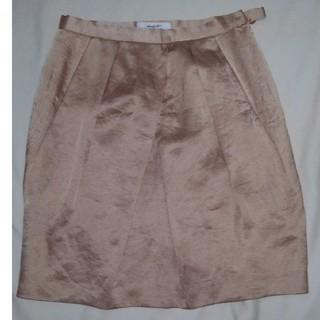 ミツコシ(三越)のスカート 膝上 ゴールド(ひざ丈スカート)