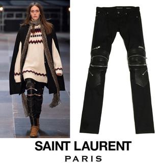 サンローラン(Saint Laurent)のSAINT LAURENT PARIS サンローラン バイカー デニム パンツ(その他)
