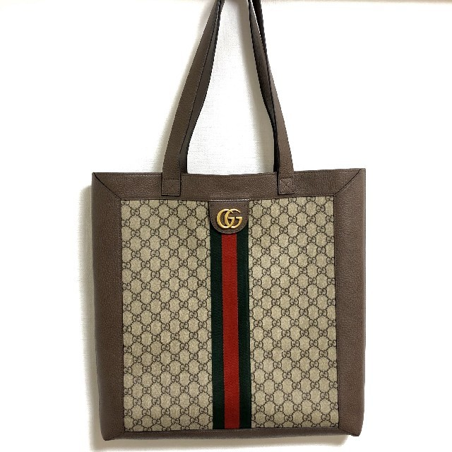 Gucci - 【超美品】Gucciグッチ トートバッグ A4資料OK ハンドメイド の通販 by popo's shop|グッチならラクマ