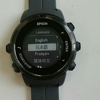 エプソン(EPSON)の【値下】エプソンwristableGPS  j-350(腕時計(デジタル))