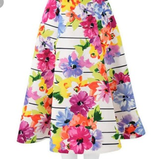 チェスティ(Chesty)のmomo1190さま専用新品チェスティ  ボーダーフラワースカート(ひざ丈スカート)