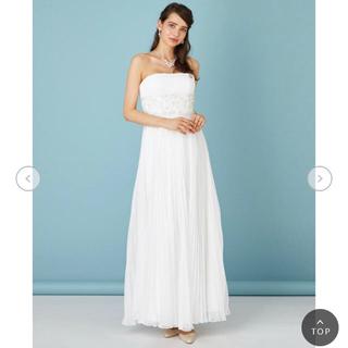 エメ(AIMER)の美品エメAIMERビーズシフォンプリーツエンパイアウェディングドレス(ウェディングドレス)