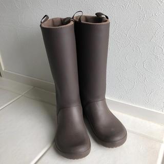 クロックス(crocs)のcrocs レインブーツ エスプレッソW6(22cm)(長靴/レインシューズ)
