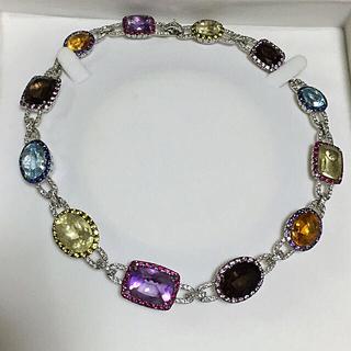 ✨豪華✨希少✨定500万 K18WG × ダイヤモンド 天然石 ネックレス✨(ネックレス)