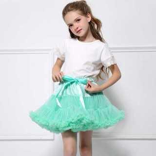 デュラス(DURAS)のレイクブルー キッズ 女の子 チュチュ スカート ドレス フリル 王女様(スカート)