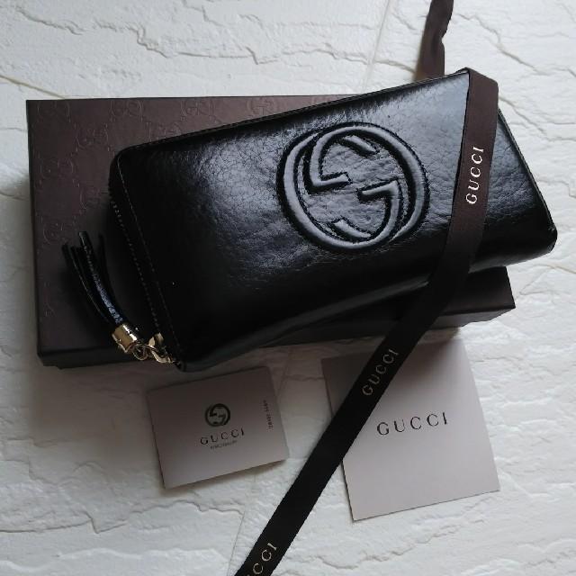 Gucci - 【美品】GUCCIグッチ ラウンドファスナー長財布SOHOの通販 by giジョ-'s shop|グッチならラクマ