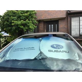 【新品】SUBARU スバルロゴ サンシェード 【裏面色:黒】【収納袋付き】