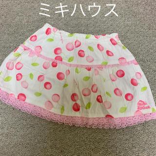 ミキハウス(mikihouse)の値下げ ミキハウス ウエストゴム スカート 80(スカート)