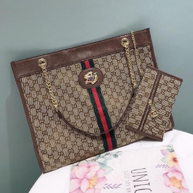 メンズ バッグ レプリカ full / Gucci - グッチ  ハンドバッグ  大容量  男女兼用  OPHIDIAの通販 by 上村's shop|グッチならラクマ