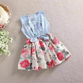 韓国子供服 花柄ワンピ(ワンピース)