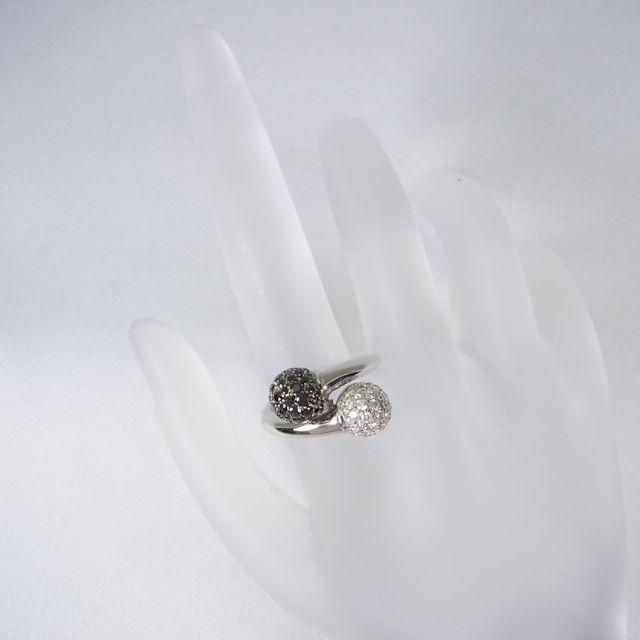 750WG ITALY ダイヤモンド リング 9.5号[f19-9] レディースのアクセサリー(リング(指輪))の商品写真