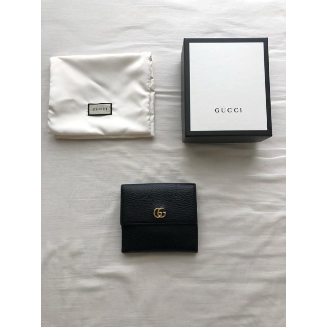 Gucci - GUCCI プチマーモントレザーフレンチフラップウォレットの通販 by リプトン's shop|グッチならラクマ