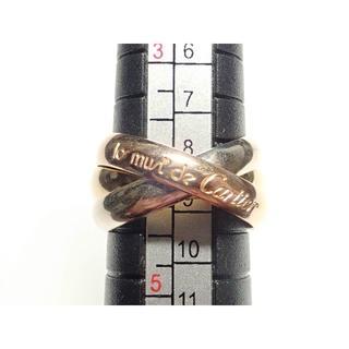 カルティエ(Cartier)の7. 750 カルティエ トリニティリング 3連リング #50 9.5号 7.5(リング(指輪))