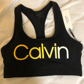 カルバンクライン(Calvin Klein)のカルバンクライン パット付き スポーツブラ M(ブラ)
