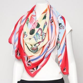 デシグアル(DESIGUAL)の新品 定価7900円 デシグアル ストール スカーフ ピンク系柄 大特価‼️(マフラー/ショール)