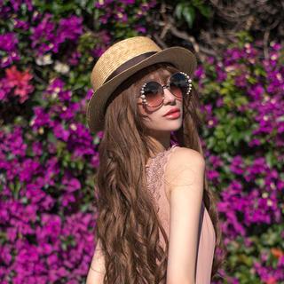 エミリアウィズ(EmiriaWiz)のカンカン帽♡ブラウン(麦わら帽子/ストローハット)