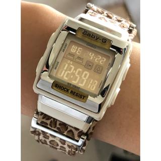 ベビージー(Baby-G)のbaby-G-SHOCK/BG-194/レオパード/スクエア/ヒョウ柄/シルバー(腕時計)