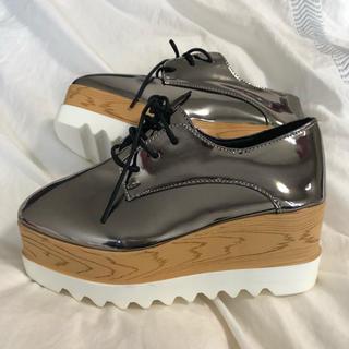シルバー厚底スニーカー 靴(スニーカー)