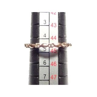 38. K10 指輪 D 0.04ct ピンキーリング 5号(リング(指輪))